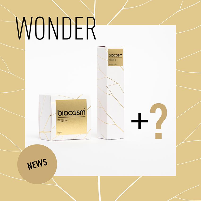 Il mese di settembre non porterà solo una novità nei prodotti di Biocosm ma per festeggiare il primo compleanno delle linea Wonder, avremo un'altra novità
